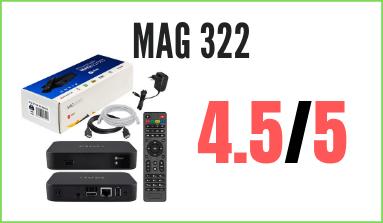 decodificador mag322 para IPTV
